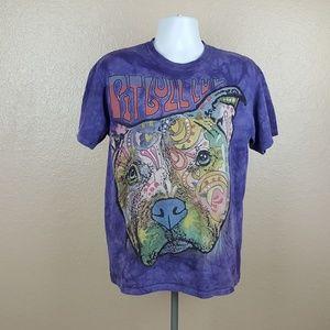 The Mountain Mens T-Shirt Size M Purple Pitbull Do